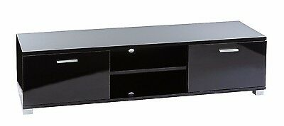 Black gloss tv cabinet unit for Plasma LCD LED tv's 32 to 55 inch 1400mm wide