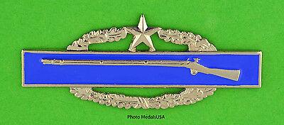 Combat Infantry Badge 2nd Award bright finish CIB - Army Infantrymen
