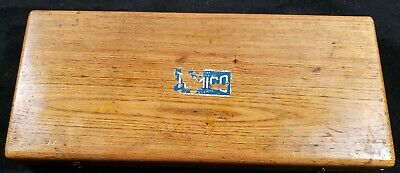 Vintage Tool Set Tumico 1-832 In Original Wood Box Made In U.s.a. As Pictured