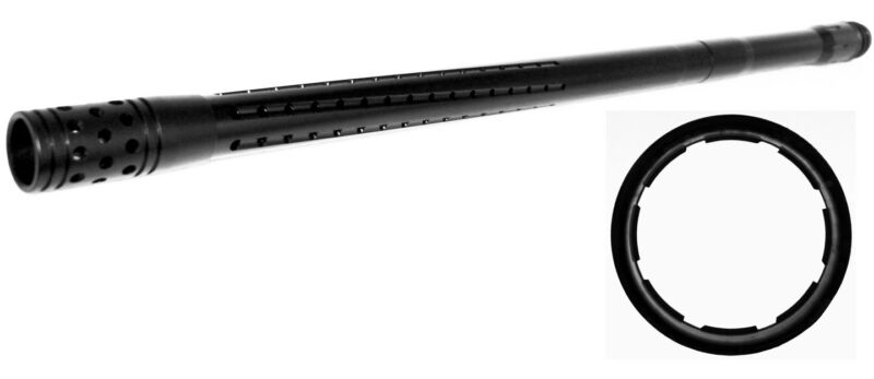 Trinity 20 long sniper barrel black for tippmann 98 custom woodsball painballing