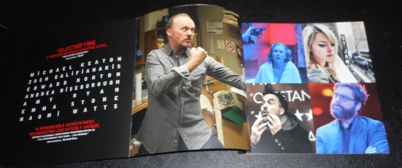 BIRDMAN Michael Keaton ACADEMY AWARD WINNER Pressbook, with Red Slipcase!