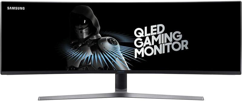 "Samsung LC49HG90DMNXZA-RB 49"" CHG90 QLED Curved Monitor - Certified Refurbished"