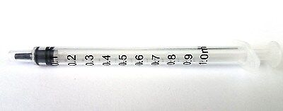 50 1ml Syringe Only With Luer Slip Tip Sterile Disposable Latex Free 1cc New