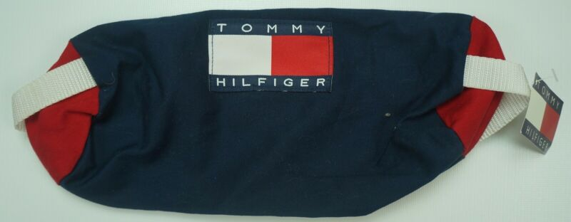 Rare Vintage TOMMY HILFIGER Spell Out Flag ToiletryBag 90s