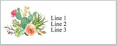 Personalized Address Labels Country Cactus Flowers Buy 3 Get 1 Free Jx 580