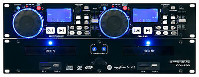 Dual DJ CD Player USB SD Rack Mount Backlit Display Scratch Function