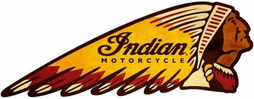 INDIAN MOTORCYCLE CHIEF HEAD LOGO HEAVY DUTY USA MADE METAL ADVERTISING SIGN