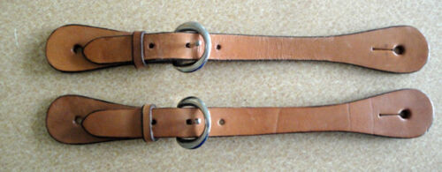 Set of 2 Tan Leather Spur Straps for Boots Perfect for Men