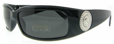 BRAND NEW VERSACE VE4044B 4044-B Ltd Edition Sunglasses Black wSilver Coin Grey