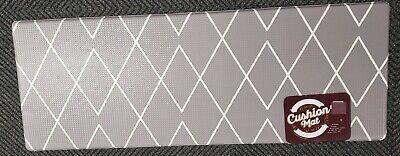 "XTRA LONG ANTI-FATIGUE CUSHIONED PVC FLOOR MAT (17"" x 47"") GRAY/WHITE DIAMONDS"