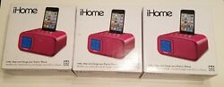 Lot of 3x iHome iH22PX Alarm Clock Speaker System for Ipod/iphone With 30 Pin
