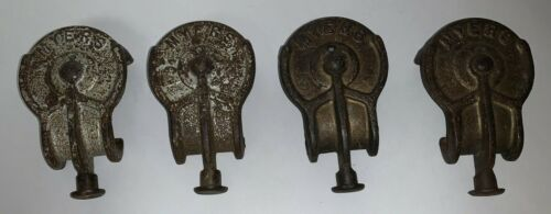 Lot Of 4 Vintage/Antique Myers Barn Door Rollers, All Are No. 3348