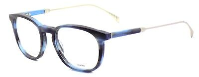 TOMMY HILFIGER TH 1384 QEU Men's Eyeglasses Frames 51-20-145 Blue Horn + CASE