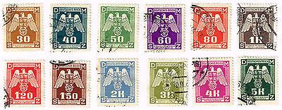 GERMANY WW2 PROTECTORAT BOHEMIA AND MORAVIA SWASTIKA EAGLE STAMPS 1943