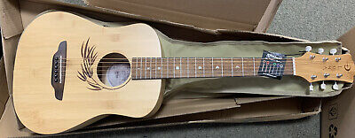 Luna Safari Bamboo Travel Acoustic Guitar with Gig Bag