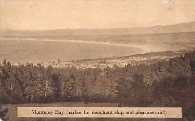 Monterey Bay California Panoramic View From High Point Antique Pc Z39841