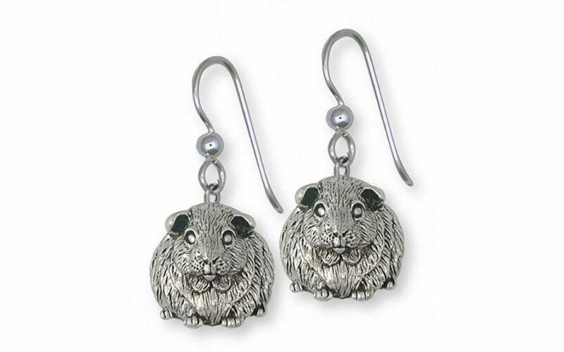 Guinea Pig Earrings Jewelry Sterling Silver Handmade Piggie Earrings GP12X-E