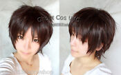 Short Dark Brown Cosplay Wig