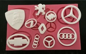 New Car Logo 3D Silicone Fondant Cake Mold Tools  Decoration birthday topper