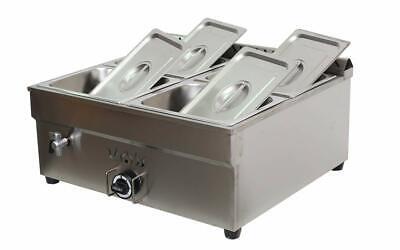 4-pan Propane Gas Food Warmer Restaurant Tabletop Desktop Countertop Steam Table