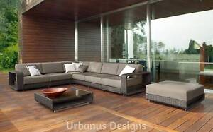 IN STOCK - Designer Outdoor Rattan 8 PC Modular Lounge  Set Kenmore Brisbane North West Preview