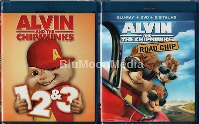 Alvin and the Chipmunks 1 2 3 4 BLU-RAY 1-4 Complete Collection 4 Disc Set