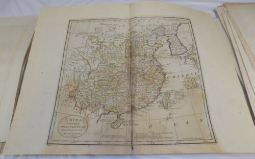 1804 Antique COLOR Map///CHINA, DIVIDED INTO ITS GREAT PROVINCES