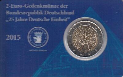 Deutschland: 1 Coin Cart der Münze Berlin mit 2 € Münze von 2015 s.Fotos +