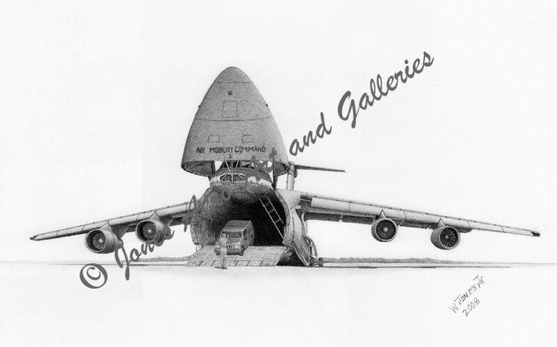 C-5B Galaxy Giclee & Iris Open Edition Art Prints by artist Willie Jones Jr.