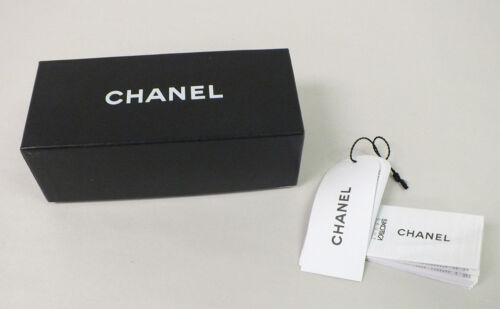 Authentic CHANEL Sunglasses EMPTY Box Tags & Booklet