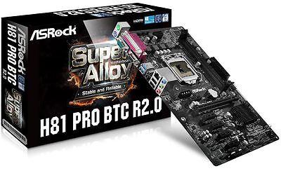 Asrock H81 Pro BTC R2.0 LGA1150 - GPU mining motherboard - New In Box