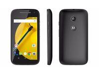 BRAND NEW Motorola Moto E 8GB 2nd generation Black 4G LTE (Unlocked) Boxed