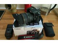 Canon 60D, Canon Speedlite flash, Sigma 24-70mm lens plus extras