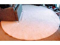 9 Foot (2.74m) Diameter, Beige Circular Rug