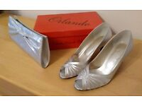 Mother of the bride/occasion shoes and clutch bag by Orlando. Style - Cancan. Size 5.5