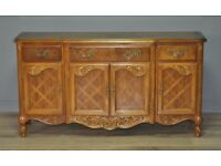 Attractive Small Vintage Oak Sideboard Cabinet With Cupboards & Drawers