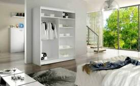 150cm width Two Sliding Door Wardrobe with Mirrors