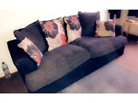 3 Seater fabric sofa with Swival chair