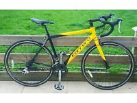 GREAT CARRERA TDF ROAD BIKE - 215 POUNDS IN MINT CONDITION - YELLOW BLACK