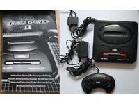Sega Mega Drive II Console + Controller + Manual + Spare Console