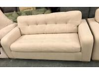 Beige fabric 3 and 2 seater sofas