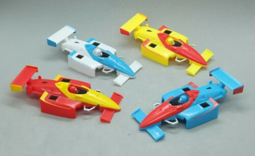 HO Slot Car Body - Life Like - F-1/Indy Body - Lot of 4 - Red, Wht, Blue, Yellow