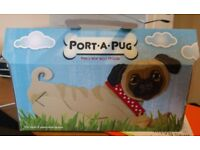 Port-a-Pug Cardboard dog. Man's best friend