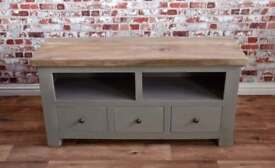 Rustic Hardwood TV Unit cabinet with Three Drawers - Free delivery