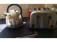 Kettle and toaster in excellent condition