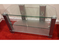 Silver & Glass TV table from Barker & Stonehouse. £30 or offer.