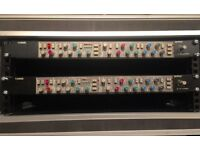 Pair of SSL 4000 E channel strips
