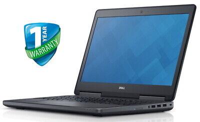 "Dell Precision 7510 15.6"" Workstation Laptop Xeon V5 32GB RAM 256GB 512GB SSD"