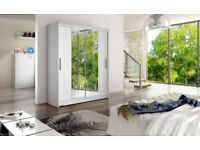BRAND NEW Sliding Door Wardrobe with Mirror FREE DELIVERY