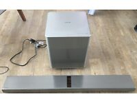 High-quality Samsung HW-F751 soundbar and wireless subwoofer, valve amped. Cost £600 when new.